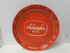 """Vintage Schaefer Beer America's Oldest Lager 12"""" Metal Serving Beverage Tray"""