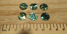 6 - Paua Shell Laser Cut Circle s  / Disc 15 mm Diam
