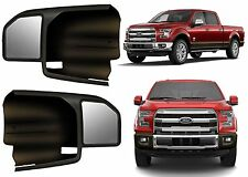CIPA 11550 Black Custom Towing Mirror Sleeves For 2015-2017 Ford F-150 F150 New