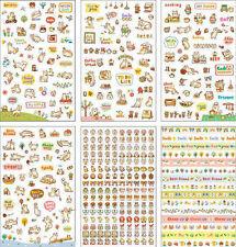 Calendar Cat adorable Kitten 6 Sheets Korean Diary Decor Stickers Journal