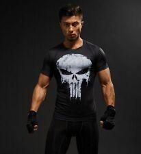 Men T-Shirt Short Sleeve 3D Skull Male Crossfit Tee Captain America Superman