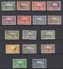 SIERRE LEONE 173-85 GEORGE VI PICTORIAL DEFINITIVES VERY FINE USED