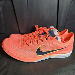 Nike ZoomX Dragonfly Track Spikes Men's Size 12 - Bright Mango/Blue Brand New