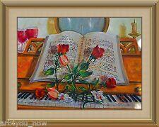 NIGHT WALTZ Original Oil on Canvas Still Life Art 18 x 24 Galina Zaytseva