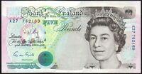 B357 GILL 1990 £5 BANKNOTE * k27 752169 * gVF+ *