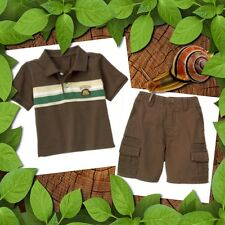 NWT 18 24 gymboree KING OF THE JUNGLE monkey 2pc brown TOP SHORTS SET OUTFIT