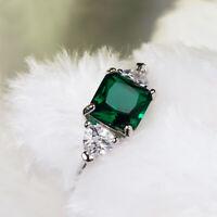 Smaragd Grünes Rhinistin Zircon Saphirring Zubehör für Schmuck Kristall mode