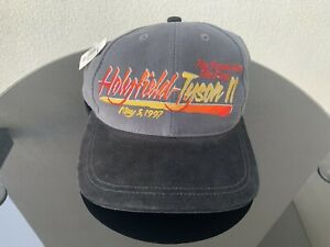 Evander Holyfield Vs Mike Tyson II Fight Night Merch Hat Cap Snapback Vintage