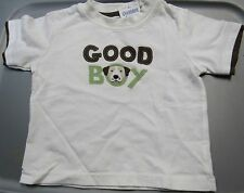 NWT GYMBOREE DOG HANDSOME GOOD BOY WHITE & BROWN SHIRT 3-6 MO Free US Shipping