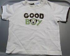 NWT GYMBOREE DOG HANDSOME GOOD BOY WHITE & BROWN SHIRT 3-6 MO Free US Shipping
