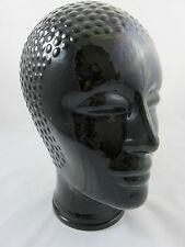 Glas Kopf für Kopfhörer, Hut, Perücke Vintage Schwarz 70er Jahre