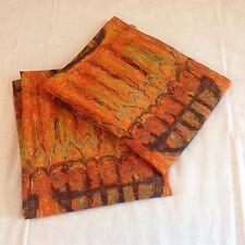"Vintage mid-century Heals""Armada""Barkcloth Curtains By Nicola Wood 54""x44""fabric"