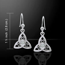 Celtic Triquetra Moon .925 Sterling Silver Earrings by Peter Stone