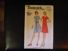 Butterick Pattern 3575 Misses' Dress 70's Size 18 UNCUT Rare