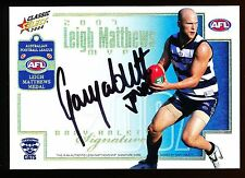 2008 Select Gary Ablett Signature card MVP Redemption No 080 of 100 Geelong Cats