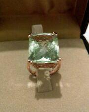 13ct Labradorite Emerald Cut Cocktail Ring - Size M