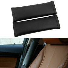 2Pcs Car Safety Seat Belt Shoulder Pad Cover Cushion Harness Pad Protector Black