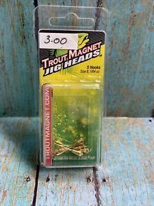 Leland Trout Magnet Jig Heads 1/64oz 5ct Gold
