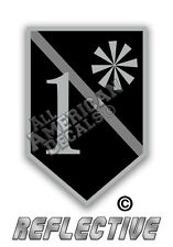 """2 - 1* Thin Grey Line Corrections Officer Decal 2"""" inch Reflective Decal Sticker"""