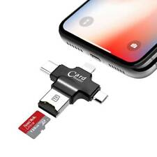 TPX 4 in1 Micro USB Type C OTG Micro SD/TF Card Reader for iPhone Android PC Mac