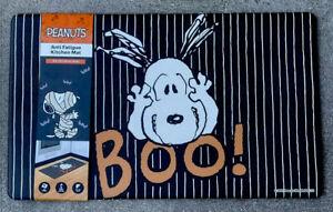 "Peanuts Anti Fatigue Snoopy Kitchen Padded Floor Mat 18""X30"" Halloween Decor New"