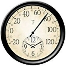 Springfield Precision InstrumentsDecorative 14-Inch Patio Thermometer with Clock