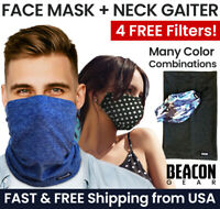 Face Mask + Neck Gaiter Combo + 4 PM2.5 Filters