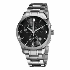 NEW VICTORINOX SWISS ARMY MEN'S ALLIANCE DARK GRAY CHRONOGRAPH DIAL WATCH 241478