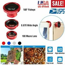 3in1 Fish Eye+ Wide Angle + Macro Camera Magnetic Lens Kits for iPhone 5 6 7 8 S