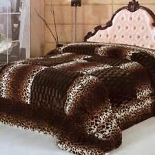 Trapunta invernale caldissimo in ecopelliccia matrimoniale leopardato. B251