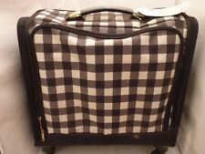 American Crafts We R Memory Keepers- 360 Crafters Trolley Bag- Check Pattern.
