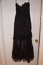 Flirt by Maggie Sotter Womens 6 Formal Pageant Prom Black Dress Worn 1X EUC