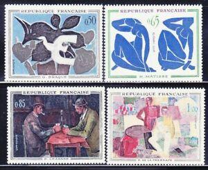 France #YT1319-YT1322 MNH CV€12.00 1961 Modern Art Braque Matisse [1014-1017]