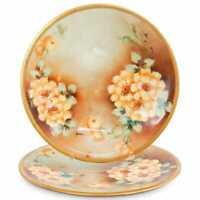 """UC Limoges France Porcelain set of 2 Plates 9 1/4"""""""