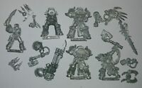 Multi-listing of Chaos Space Marine Metal models cleaned of paint RARE OOP