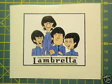 Lambretta (Vespa Scooter Retro Beatles Dibujos Animados Pegatina) GP, TV, Li, SX, GT.200 TS1