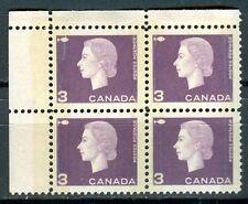 Canada #403pviii 403viii Corner Block 4 UL Cameo Dark Purple W2B Tagged MNH