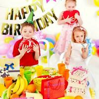 Happy Birthday Banner Bunting Paper Birthday Party Hanging Garland Banners Decor