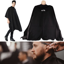 Unisex Adults Black Hair Salon Hairdressing Barbers Gown Cutting Cape Cover KMS