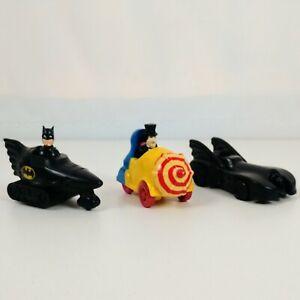 Vintage 1991 McDonalds Happy Meal Toy Batman Returns Batmobile Penguin & Vehicle