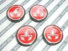 GENUINE FIAT ABARTH alloy wheel center caps set  COUPE UNO CINQUECENTO SEICENTO