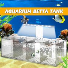 Aquarium LED Acrylic Betta Fish Tank Set Mini Desktop Light Water Pump  UK UK