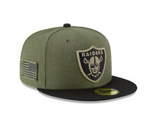 Oakland Raiders Cap NFL Football New Era 59fifty Salute to Service 2018   7 1/4