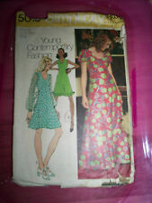 Vintage 70's Maxi Dress Pattern 10 Simplicity 5015