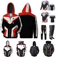 Men The Avengers 4 Hoodies Hooded Sweatshirt Tops T-Shirt Jacket Coat Long Pants