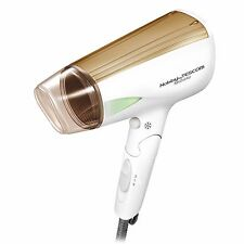 AU Nobby by TESCOM NBID42AU Ionic Travel Hair Dryer  White/Gold Made In Japan