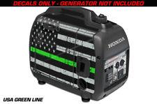 Decal Wrap For Honda EU2000i Skin Camping Generator Engine Sticker USA GREEN LNE