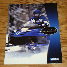 Original 1998 Yamaha Snowmobile Full Line Sales Brochure 98 Sport Trail Mountain