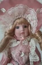 "French Fashion Pink & Lace Seymour Mann Connoisseur Porcelain 11'"" Doll c. 1989"