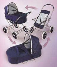 Badger Basket English Style 3-in-1 Doll Pram, Carrier, & Stroller 9922 Stroller